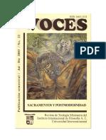 Voces 22 - Sacramentos y postmodernidad