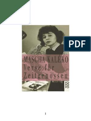 Mascha Kaléko Verse Für Zeitgenossenpdf