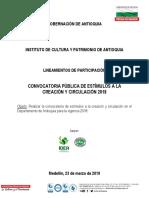 LINEAMIENTOS CONVOCATORIA PUBLICA ESTIMULOS 2018