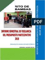 Informe Semestral del Comité de  Vigilancia del Presupuesto Participativo Cotabambas - Apurimac