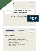 Reunión EBAU Historia de España
