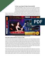 Depo Murah Main Capsa Bagi JP Online Pokerhotbet888
