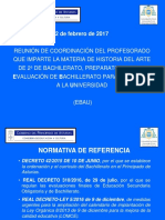 Reunión EBAU Historia Del Arte