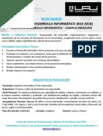 B10-2018 Ingeniero Desarrollador - Campus Errázuriz