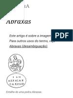 Abraxas – Wikipédia, A Enciclopédia Livre