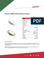 Round 18W LED Surface Panel