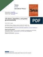 Jaeger_ UN Ferom, Biopolitics and Global Governmentality