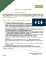 Politique Environnementale Avril 2015