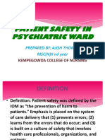 Patient Safety in Psychiatric Ward
