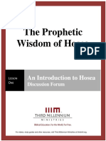 The Prophetic Wisdom of Hosea – Lesson 1 – Forum Manuscript
