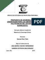 Propuesta de Un Modelo de Orientación Para Las Universidades Politécnicas Del Estado de Guanajuato. Samuel Ruíz Tello.