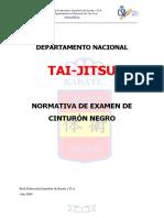 Normativa de T.G. Tai Jitsu. FEK