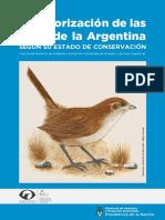 Categorizacion de Aves de La Argentina
