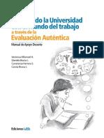 Manual de Apoyo Docente Evaluacion Autentica Universidad Del Desarrollo