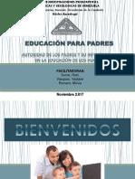 Escuela para Padres - Charla sobre Autoridad en la Educación