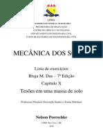 Resolução Braja M Das - 7ª Ed - Capítulo 10 - Tensões Em Uma Massa de Solo