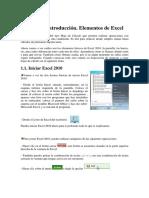 Unidad 1 Elementos de Excel