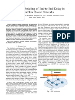 Analytical Modeling of End-to-End Delay in OpenFlow Based Networks