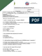 Prueba de Diagnóstico de Ciencias Naturales 5to
