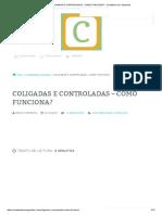 Coligadas e Controladas - Como Funciona_ - Contábeis Sem Segredos
