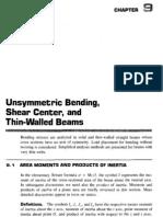 Unsymmetrical Bending, Shear Centre_c&y
