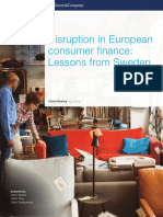 Disruption in European Consumer Finance Lessons From Sweden