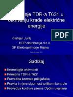 Korištenje TDR-A T631 - Za Prezentaciju