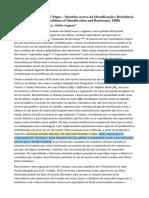 O Espectador Negro – Questões acerca da Identificação e Resistência - Blac Spectatorship- Problems of Identification and Resistance 1988 por Manthia Diawara