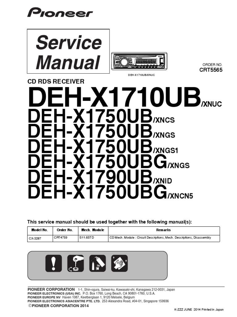wiring diagram pioneer deh 815 pioneer deh x1710ub x1750ub x1790ub crt5565 car audio laser  pioneer deh x1710ub x1750ub x1790ub