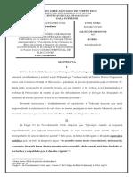 Sentencia en caso de Rodríguez Ruiz - Primera Instancia