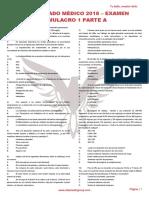 RM 18 - Examen Simulacro 1 A