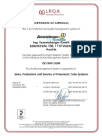 Certificate of Approval - ISO 9001-2008