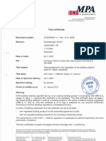 DIN4102-1 Certificate Building Msterial Class Tube