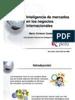 Inteligencia de Mercados Internacionales