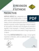 DG-013 Politica de Prevención Del Uso de Sustancias Psicoactivas