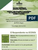Devolução Ecosol - Cotidianos Narrativas