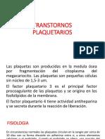 TRANSTORNOS PLAQUETARIOS