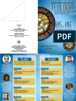 Folder Programacao Simposio Arquidiocesano de Teologia