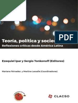 Teoría Política Y Sociedad Reflexiones Críticas Desde