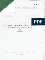 Zigrai - Osnovi Kvantitativne Hemijske Analize I DEO