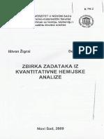 Zbrika Zadataka Iz Kvantitativne Hemijske Analize - SPARKS