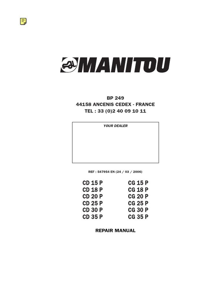 Manual de Reparacion CD25P | Truck | Forklift