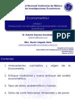 Econometría I IIEc UNAM 2018-II (Unidad 1)