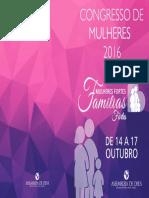 Capa Congresso de Mulheres 2016