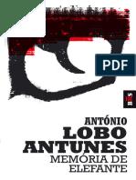 Memoria de Elefante - Antonio Lobo Antunes