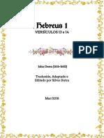 Hebreus 1 - Versículos 13 e 14