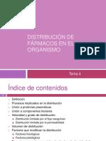 Tema 4. Distribucion de Farmacos en El Organismo OCW