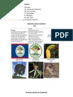Simbolos Patrios de Los Paises de Centroamerica