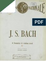 Capet Bach 6 Sonates 1
