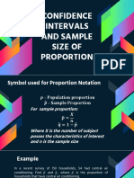 Confidence Intervals and Sample Size of Proportion
